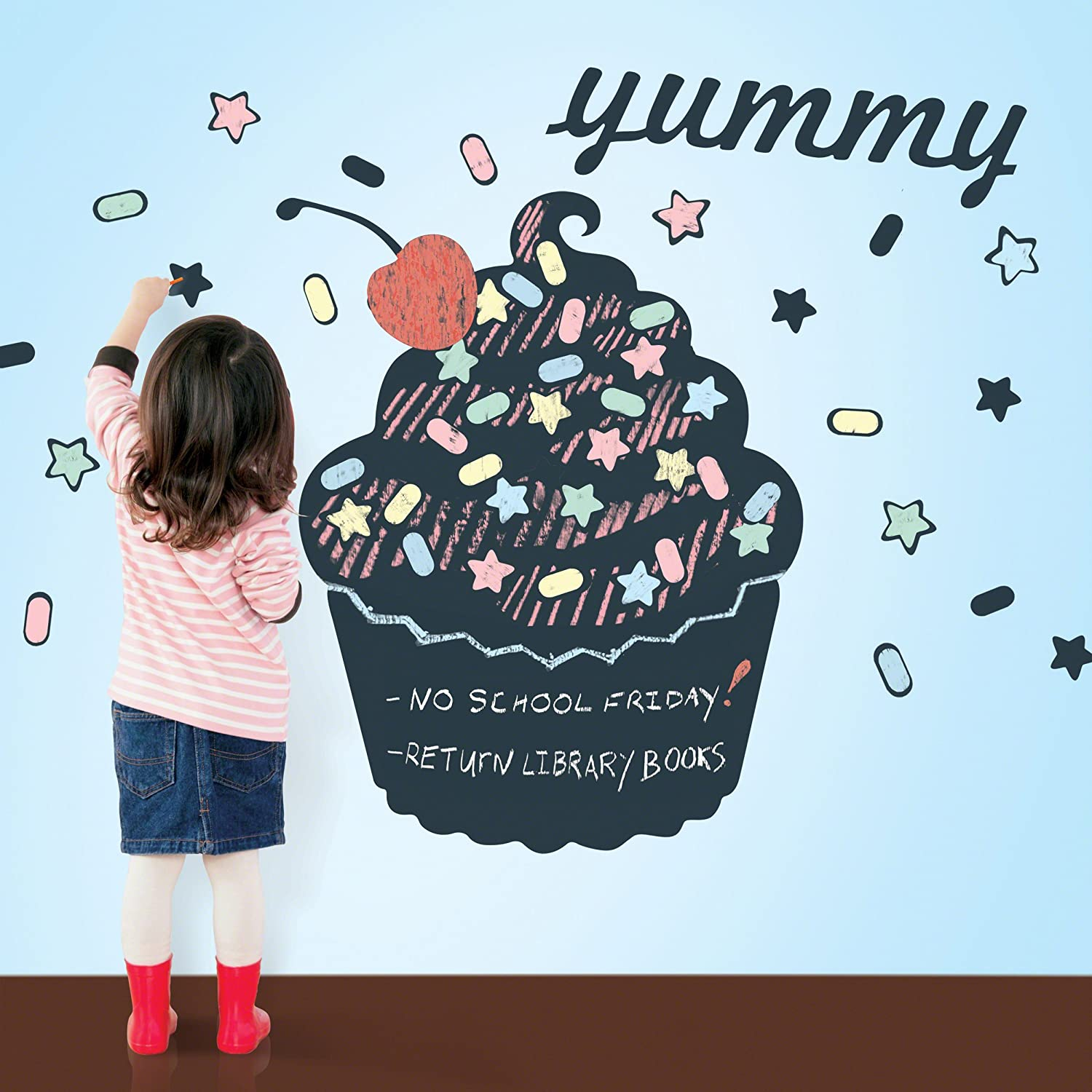 Amazon.com WallCandy Arts Chalkboard Wall Decal Cupcake with Sprinkles Baby  sc 1 st  Amazon.com & Amazon.com: WallCandy Arts Chalkboard Wall Decal Cupcake with ...