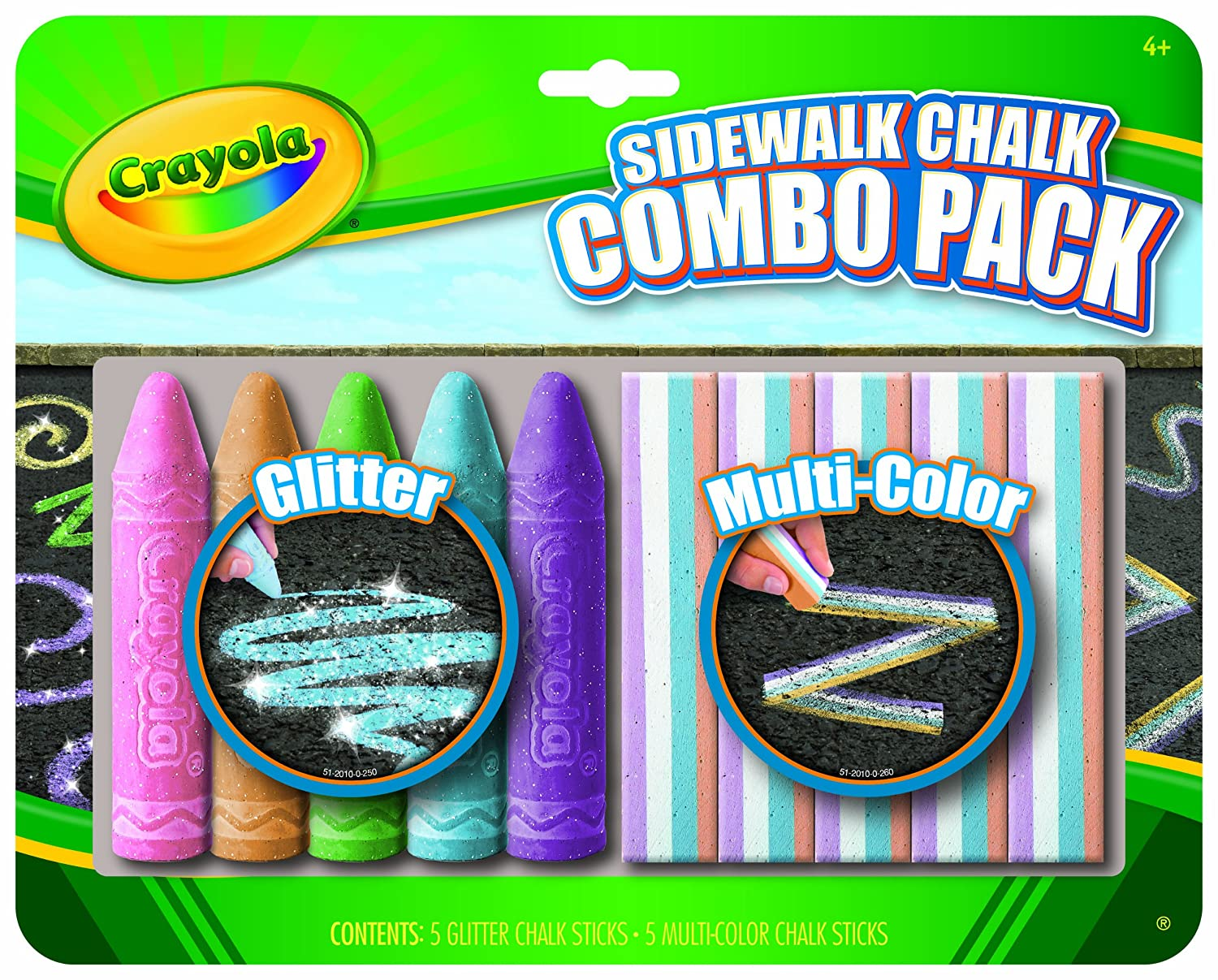 Amazon crayola special effects sidewalk chalk toys games negle Image collections