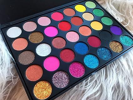 Paleta de sombras para ojos Glitz Cosmetics Shimmer P2 de alta pigmentación, brillo natural, kit de maquillaje, ver fotos y descripción, regalo perfecto 350S: Amazon.es: Belleza