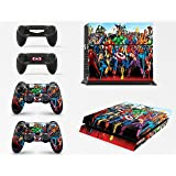 Gizmoz n Gadgetz Superhero Skins for PS4 Playstation 4 Console Decal Vinal Sticker + 2 Controller Set