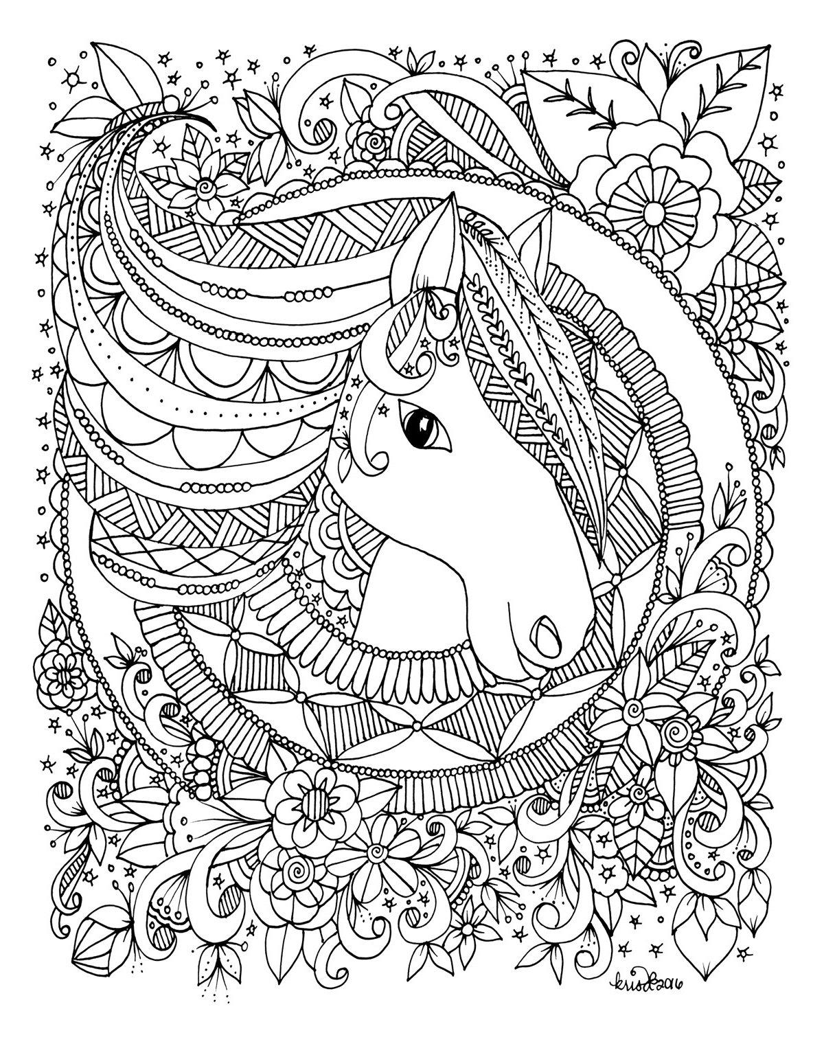 KC Doodle Art Whimsical Animals Coloring Book: Amazon.de: Krisa ...