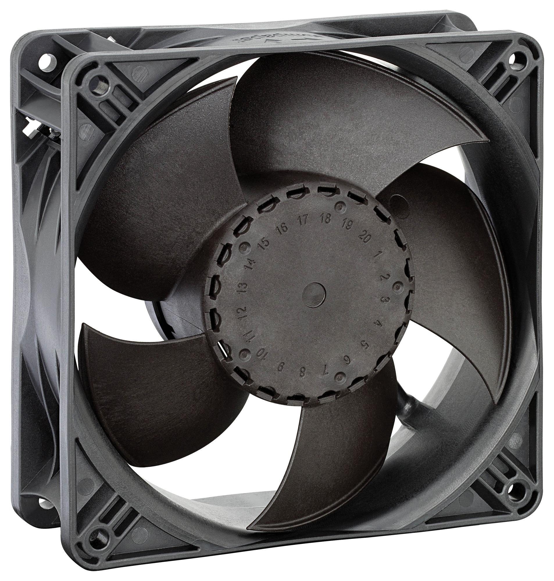 EBM-PAPST ACI4400H Axial Fan, 240 V, AC, 119 mm, 38 mm, 39 dBA, 94 cu.ft/min