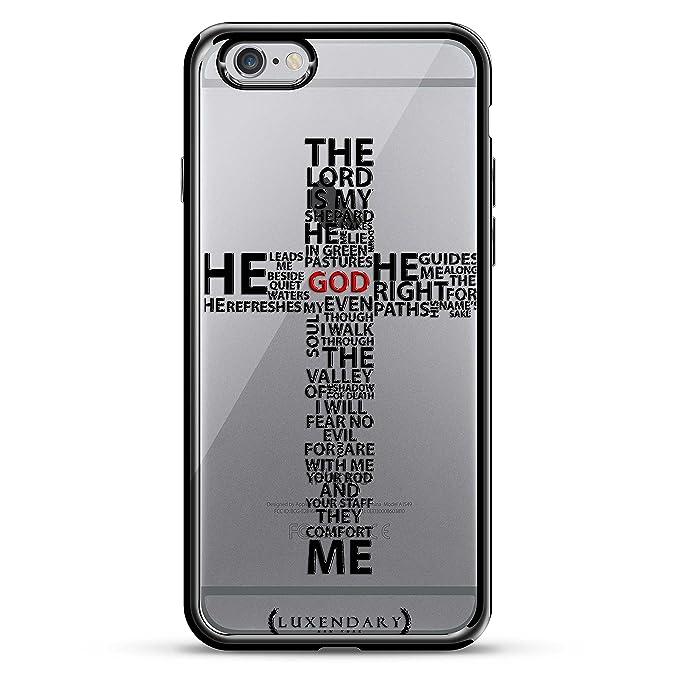 release date: 9729a 67a76 Cross Prayer Quote Design Chrome Series CASE in Titanium Black for iPhone  6/6S Plus