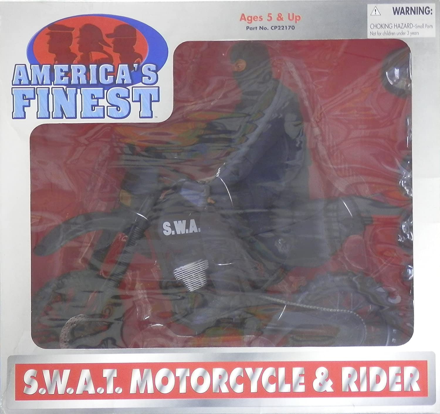 21st Century Toys America's Finest SWAT Motorcycle & Rider 12 inches B01N4R6L6M