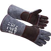 RAPICCA Animal Handling Gloves Bite Proof Kevlar Reinforced Leather Padding DogCat ScratchBird Handling Falcon Gloves…