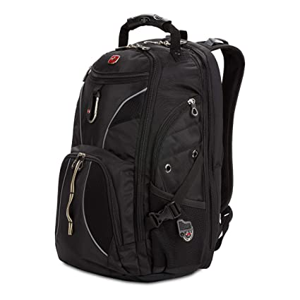 cfe9f62b1dc Swiss Gear SA1923 Black TSA Friendly ScanSmart Laptop Backpack - Fits Most  15 Inch Laptops and Tablets