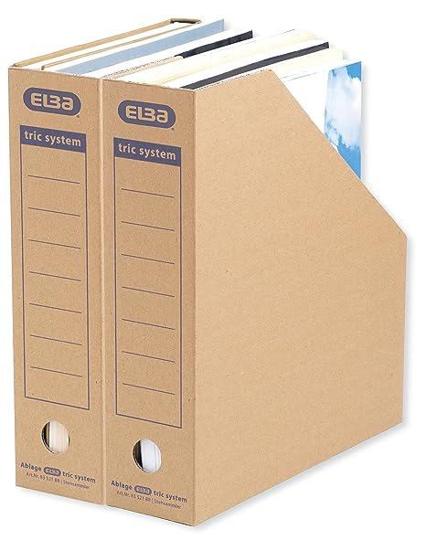 Elba 83521 - Revistero archivador (sistema de lengüetas, con inscripciones impresas para archivado,