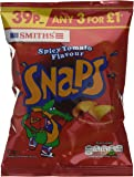 Smiths Spicy Tomato Snaps 21 g (Pack of 30)