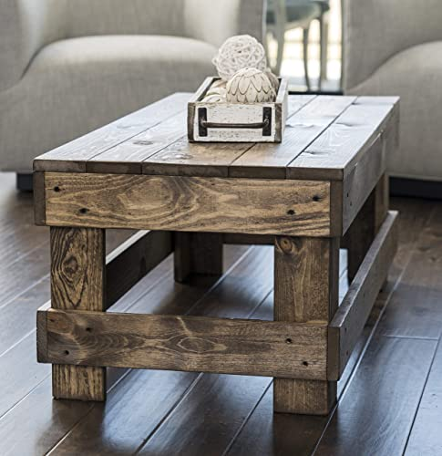 Landmark Pine Natural Solid Wood Farmhouse Living Room Coffee or End Table Coffee Table