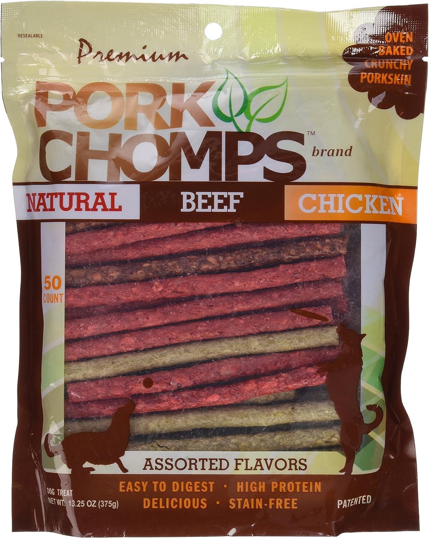 Scott Pet Products Pork Chomps Assorted Munchy Sticks Treat