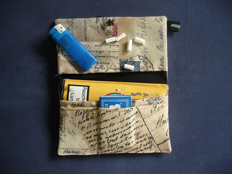 Jede Tasche EIN Unikat! B/üroteuse Tabaktasche//Drehertasche im Old Postcard-Design