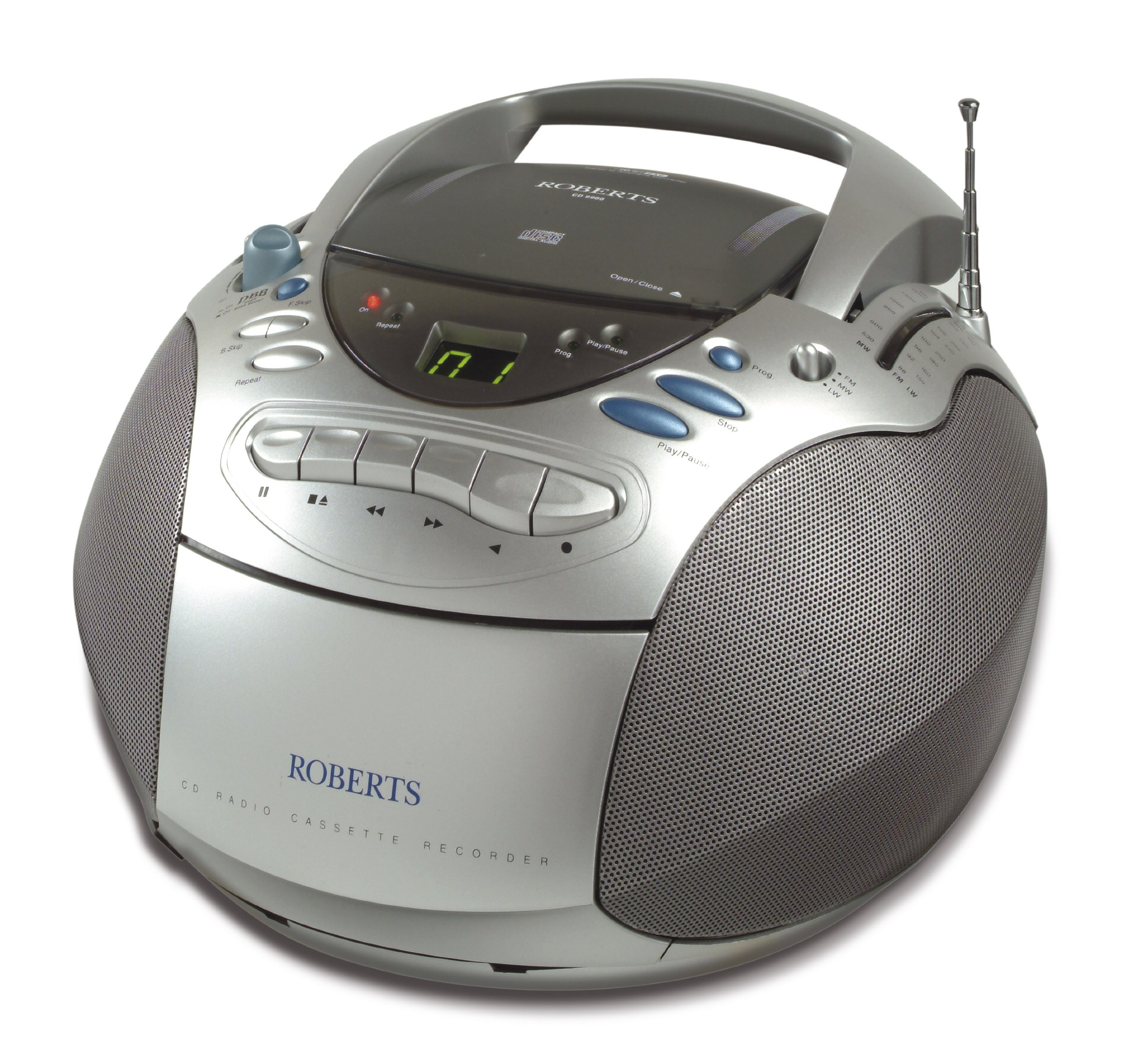 roberts cd9960 cd fm mw lw radio cassette player new ebay. Black Bedroom Furniture Sets. Home Design Ideas