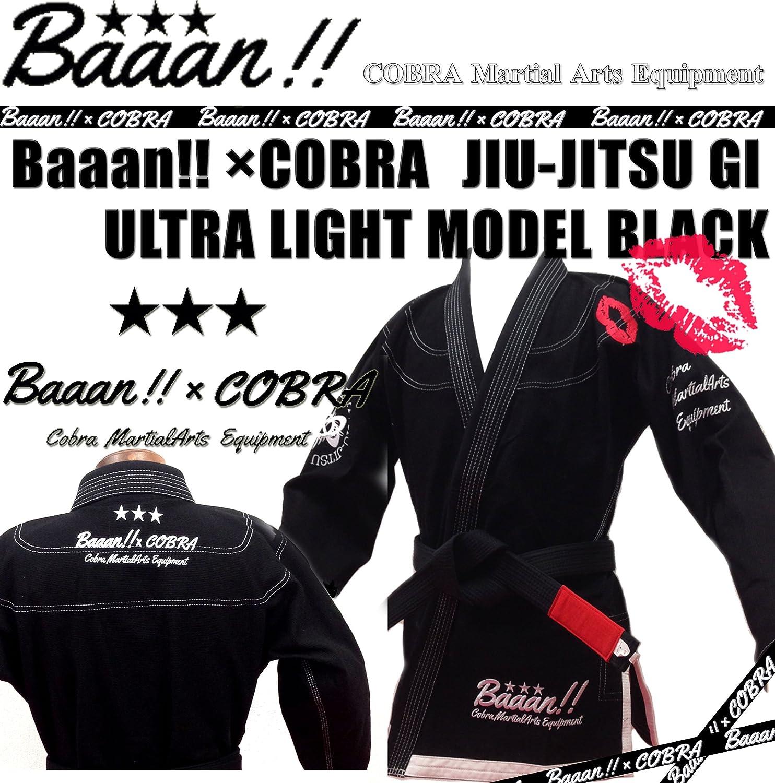 COBRA × Baaan !! JIU-JITSU GI ULTRA LIGHT MODEL BK  A1/身長160-170cm 体重~75kg