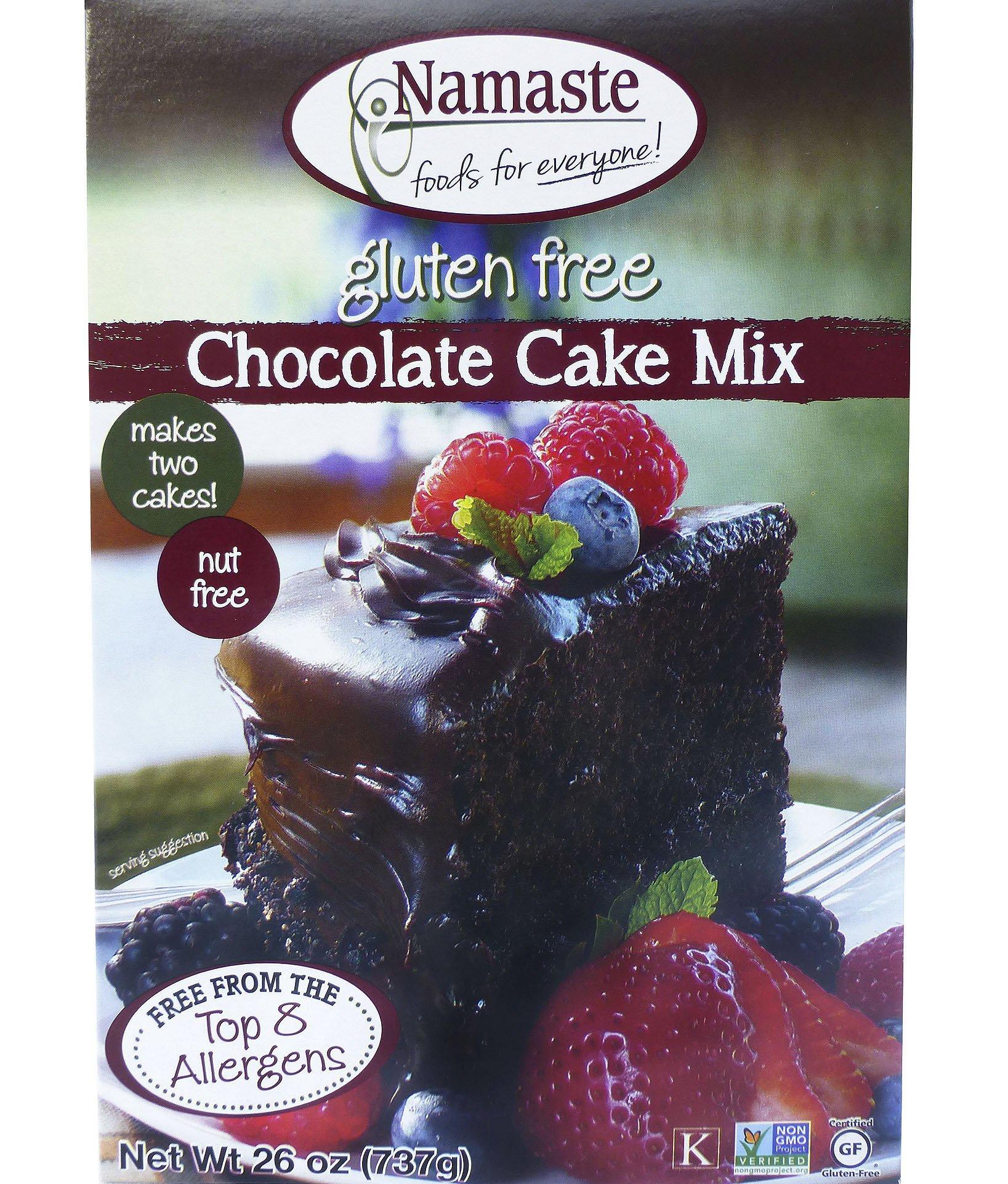 NAMASTE FOODS MIX CAKE CHOC WFGFDF, 26 OZ