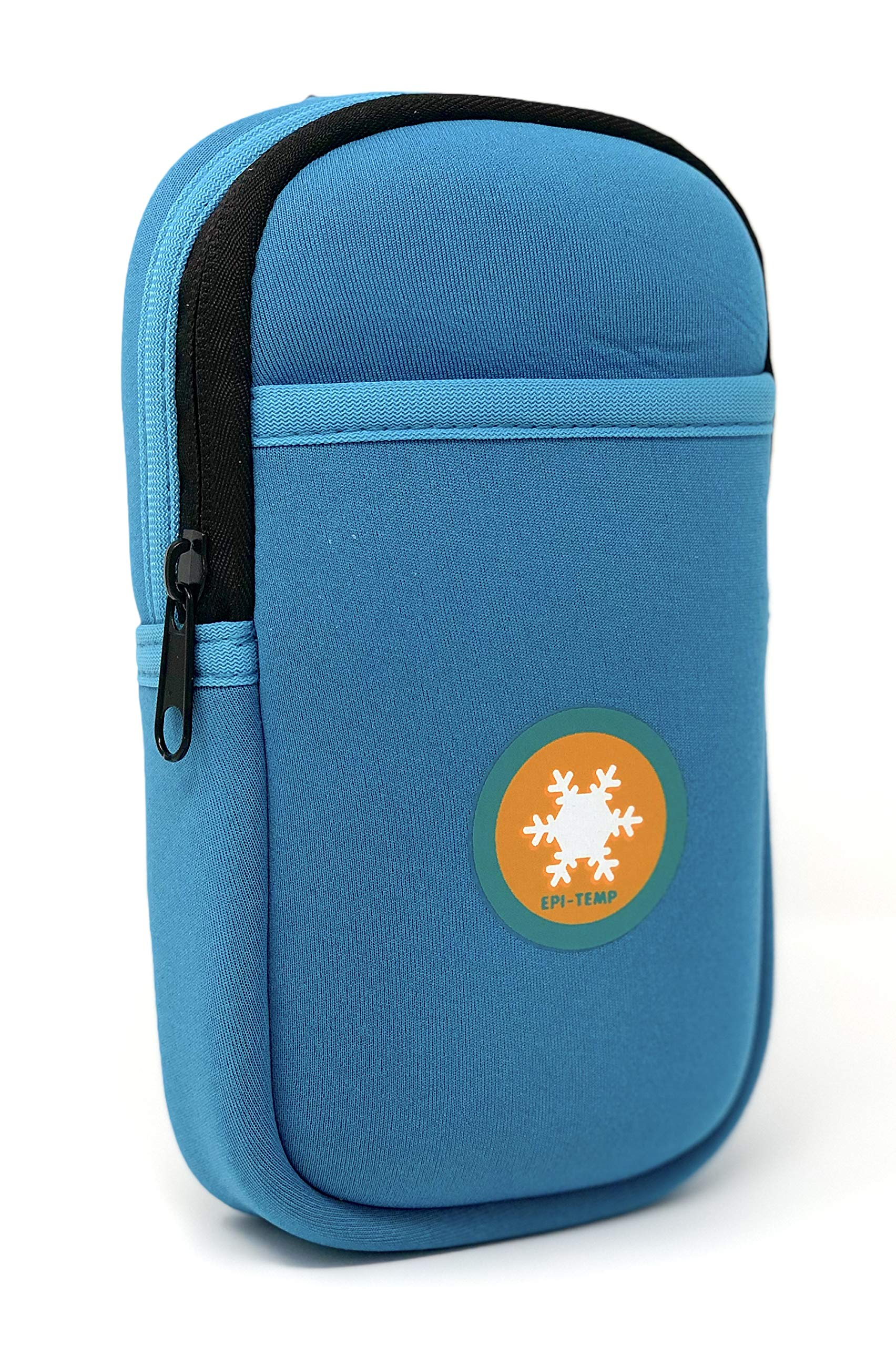 EPI-TEMP Epipen Insulated Case for Kids, Adults - Smart Carrying Pouch, Storage Bag, Powered by PureTemp Phase Change Material to Keep Epinephrine in Safe Temperature Range (Teal) by EPI-TEMP (Image #3)