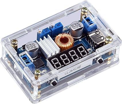 Dual USB Charger DC Buck Converter12V//24V//36V to 5V 3A Step down Voltage Meter