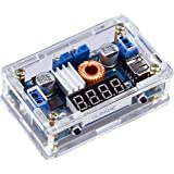 Yeeco DC DC Buck Voltage Regulator Power Converter Supply Constant Voltage & Current Volt & Amp Converters Adjustable 7-36V to 1.25-32V Step Down 5A 75W LED Driver LED Voltmeter Display USB Output