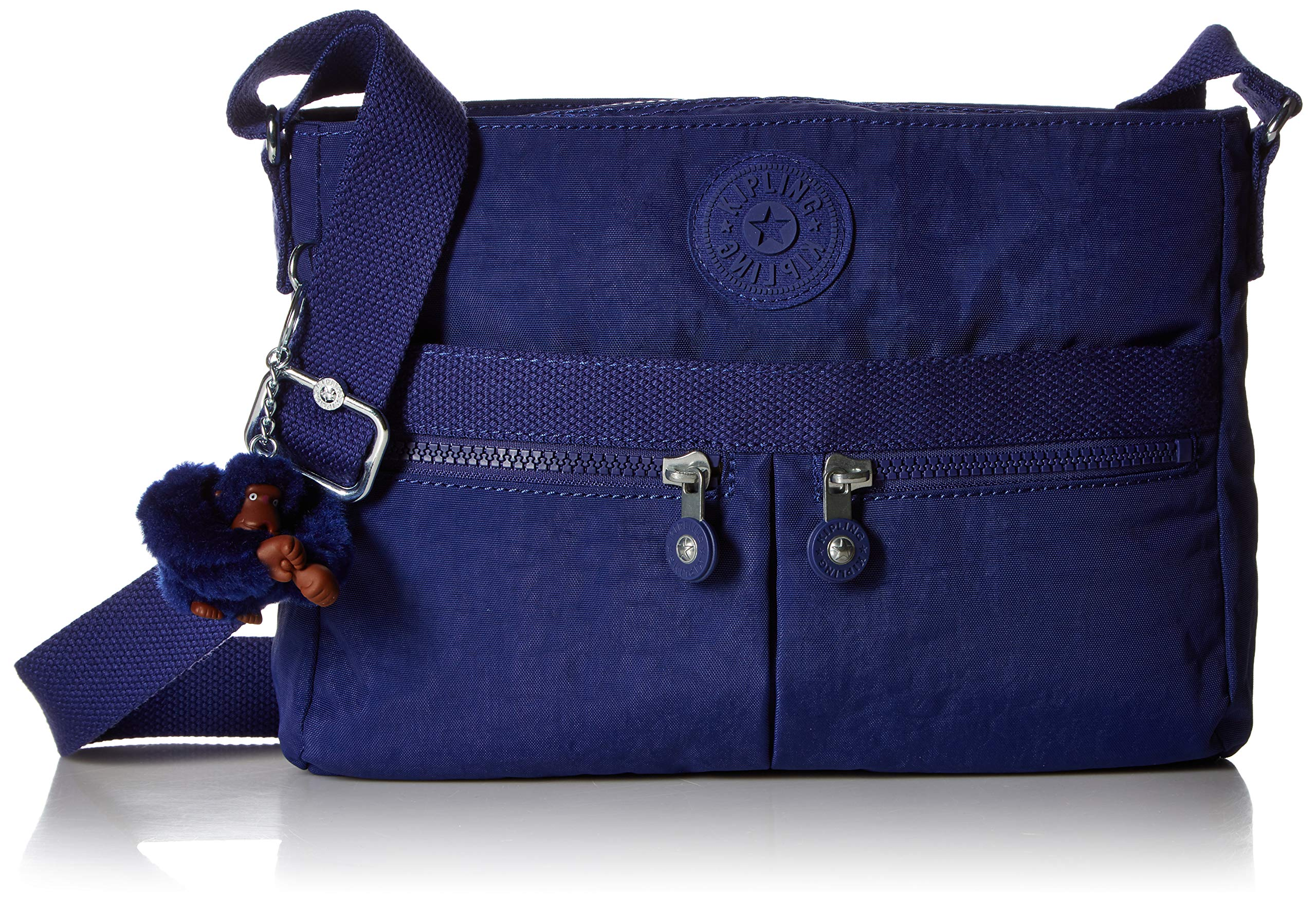 Kipling Women's Angie Crossbody Bag, Adjustable Shoulder Strap, Zip Closure, Cobalt Dream Tonal