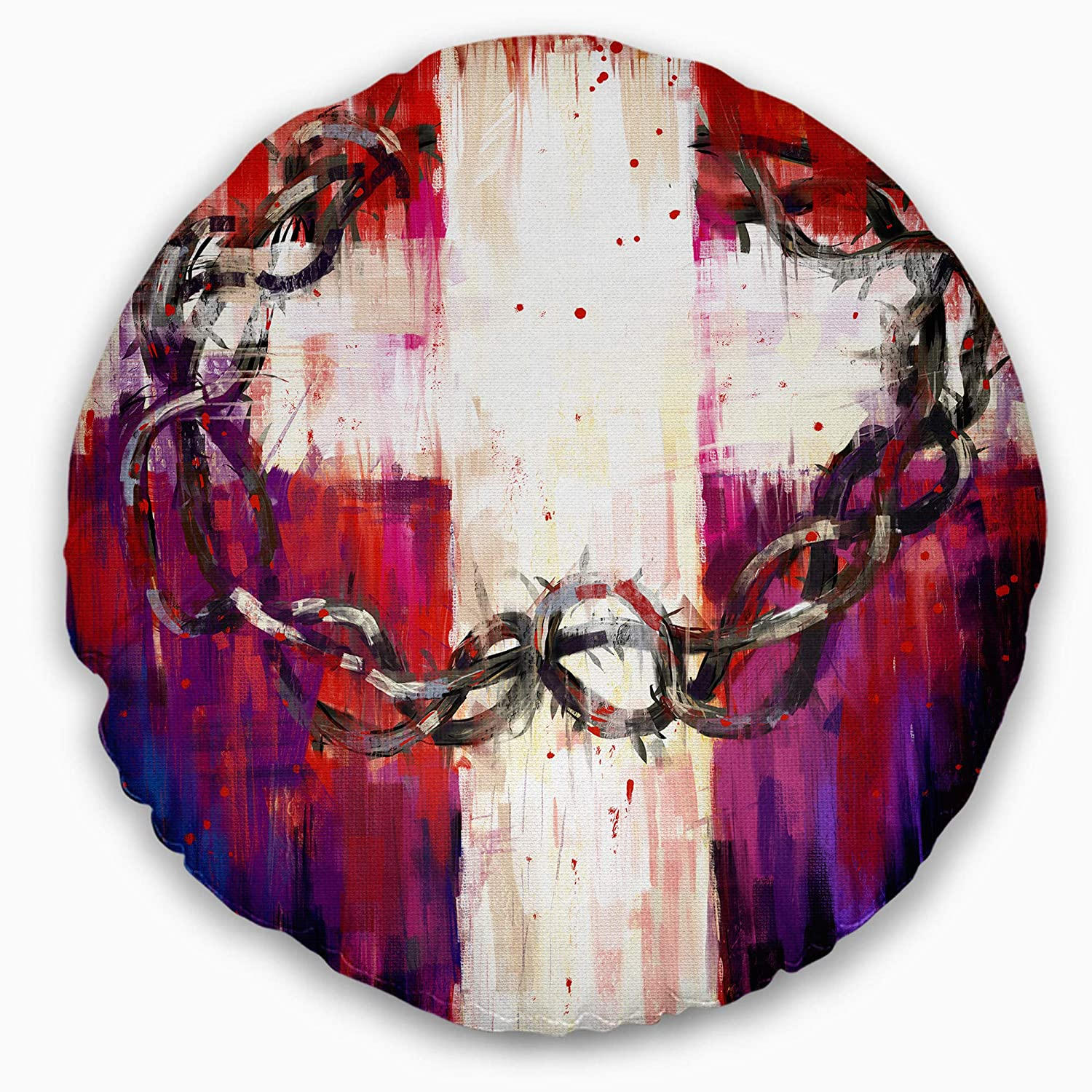 Designart CU6340-20-20-CCrown of Thorns Throw Pillow 20 Inches Round
