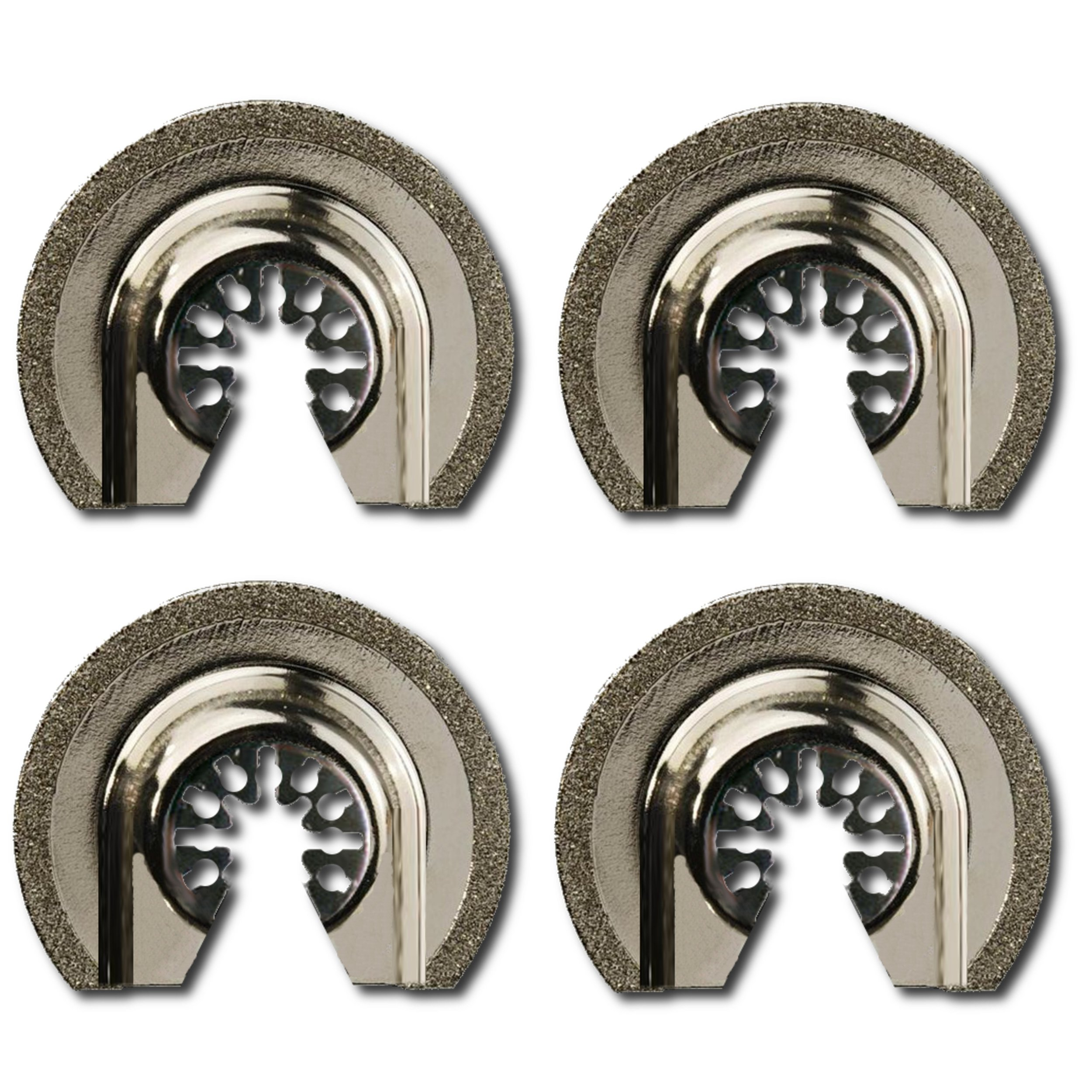 Integra Tools Platinum Series Blades P4DIA2.5 Semi-Round Flush Cut Universal Oscillating 2-1/2'' Diamond Grout Saw Blade (4-Items)