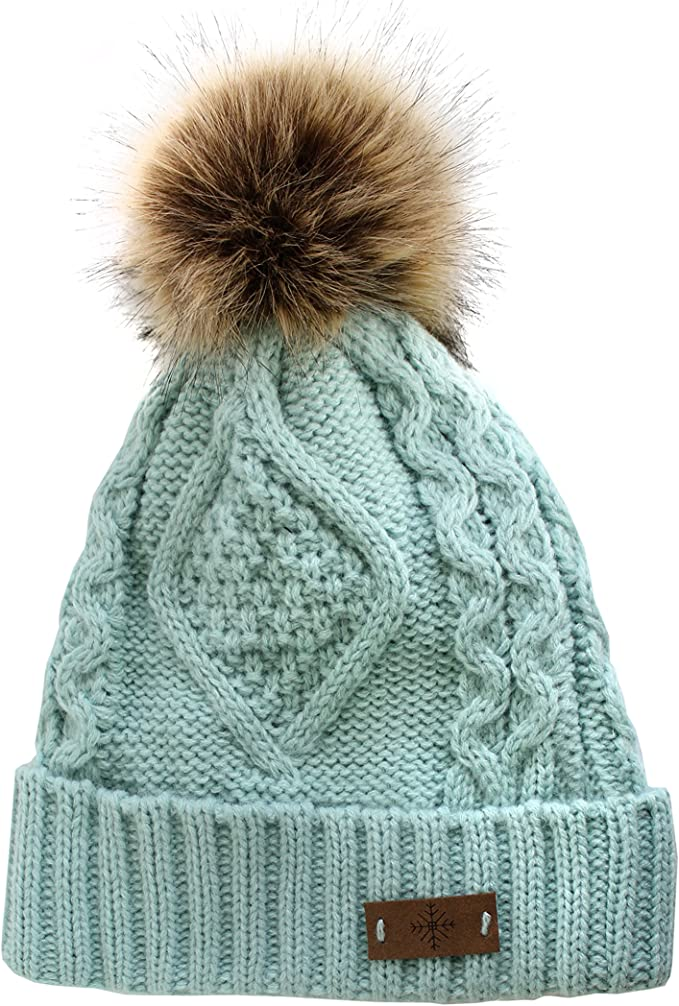 Chunky Pom Pom Beanie Nodric Snowfall Pom Pom Womens Pom Pom Hat Womens Winter Hat White Silver Pom Pom Hat Sprarkle Hat. Ombre Beanie