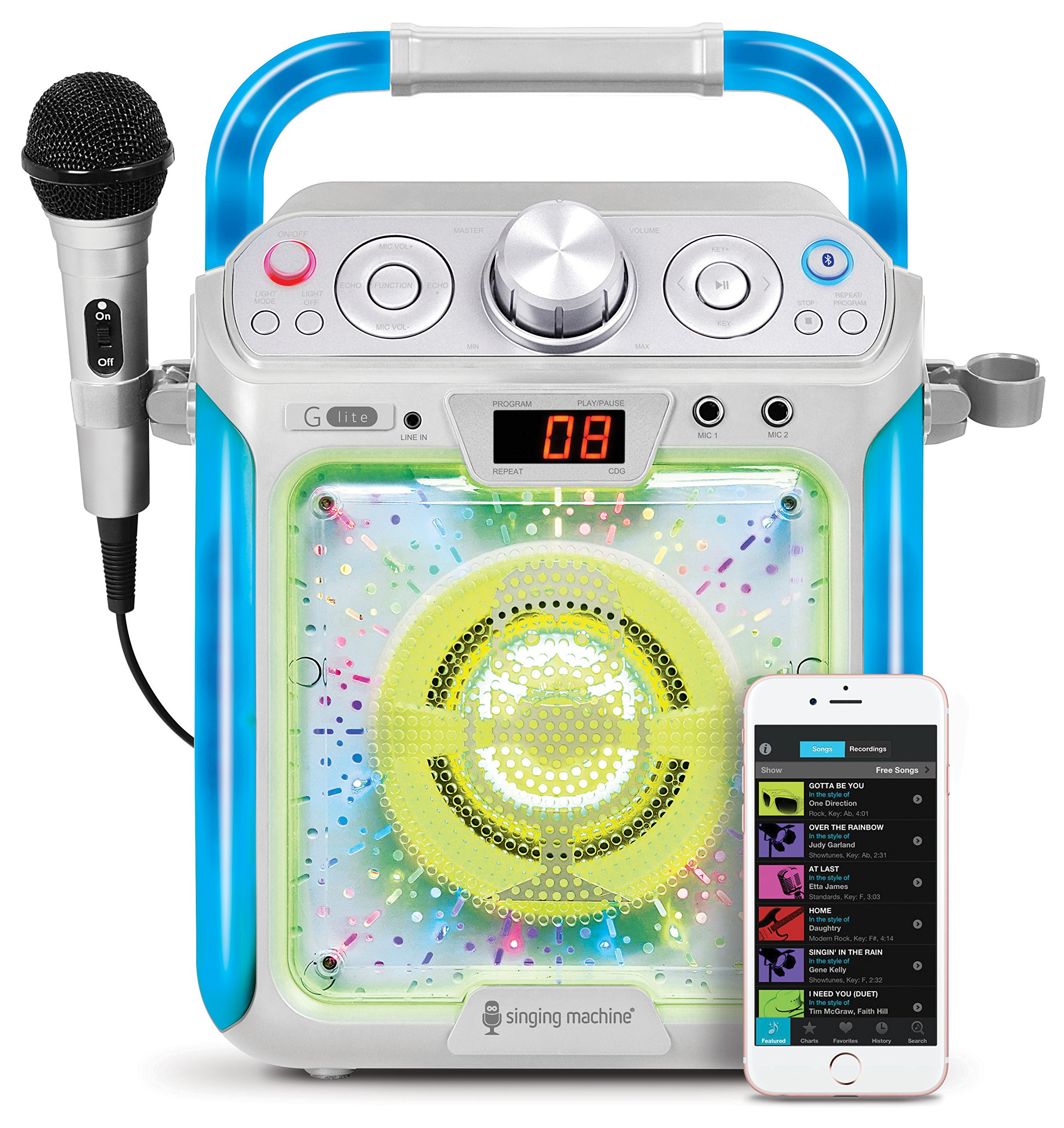 Singing Machine SML2082BTC Bluetooth G-Lite CD+G Karaoke System