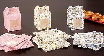 Set 18 Stück Schachteln In Papier Cm 8 X 8 X 8 Mit Fenster