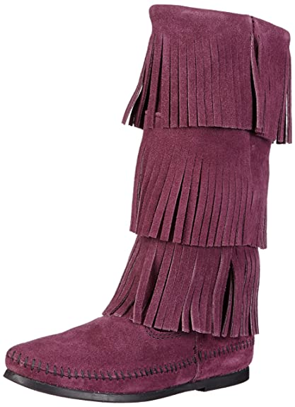 Minnetonka - Botas mocasines, talla: 37, color: Morado (Viola (Violett (Plum))): Amazon.es: Zapatos y complementos