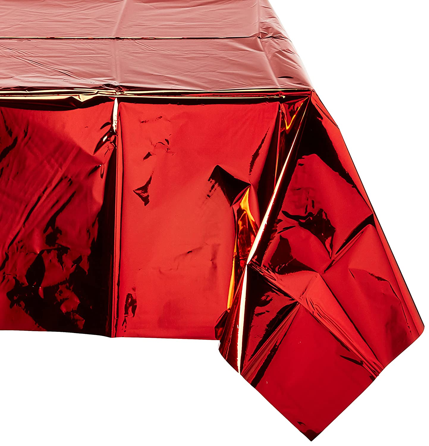 Amscan Red Metallic Table Cover | Party Decor | 6 Ct.