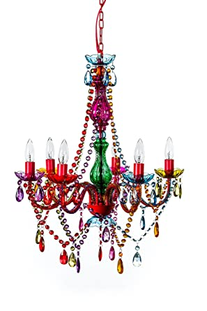 The original gypsy color 6 light large gypsy chandelier h26 w22 the original gypsy color 6 light large gypsy chandelier h26quot w22quot red metal aloadofball Choice Image