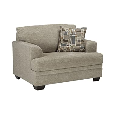 Benchcraft - Barrish Traditional Upholstered Chair and a Half - Sisal