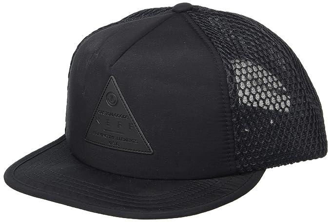 aef57e4bc341 Neff Men's X Mesh Hat-Flat Billed Snapback Trucker Cap, Black, One Size