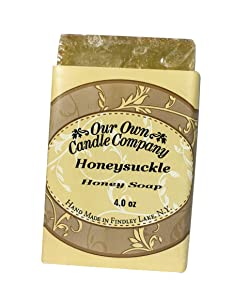 Our Own Candle Company Milk & Honey Bar Soap, Honeysuckle, 4 oz
