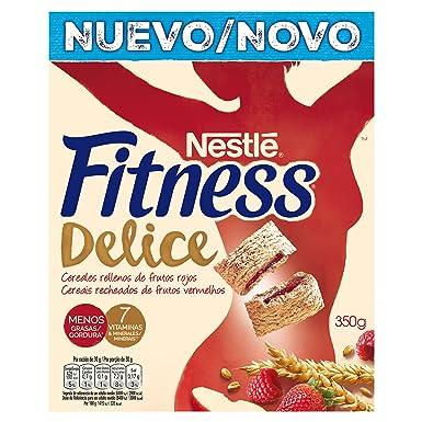 Fitness Cereales de trigo, maíz y arroz tostados con relleno de frutos rojos - 350