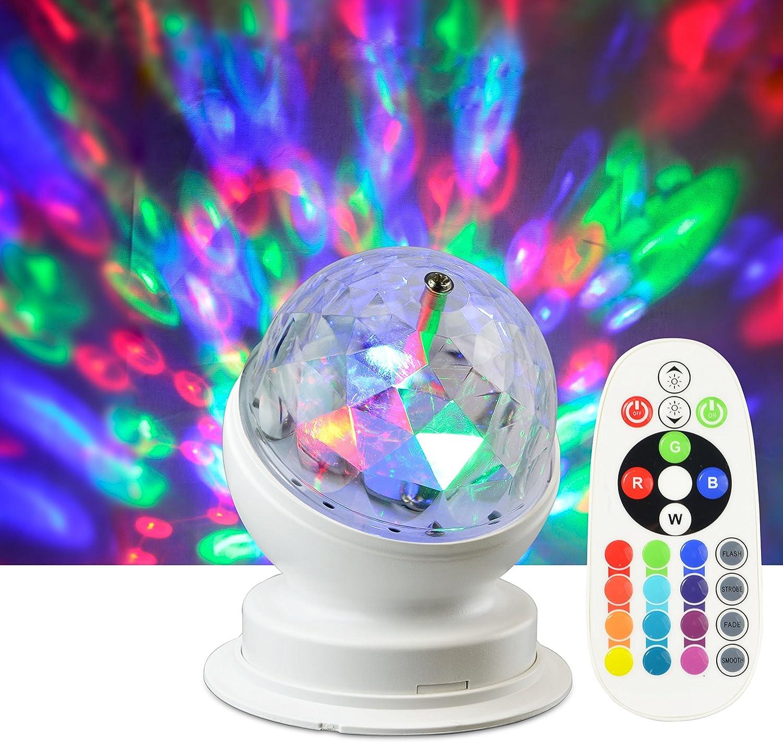color blanco//transparente 4/W X4-LIFE Party l/ámpara Pl/ástico E27 8.8/x 8.8/x 10.6/cm