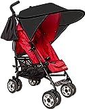 Sunnybaby 11240 Sonnendach für Sportwagen, Buggys und Kinderwagen, Flexi-XXL, schwarz