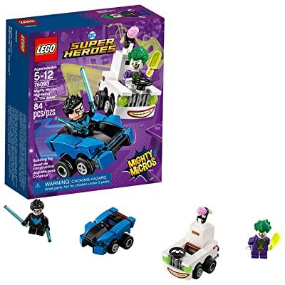 LEGO DC Super Heroes Mighty Micros: Nightwing vs. The Joker 76093 Building Kit (84 Piece): Toys & Games