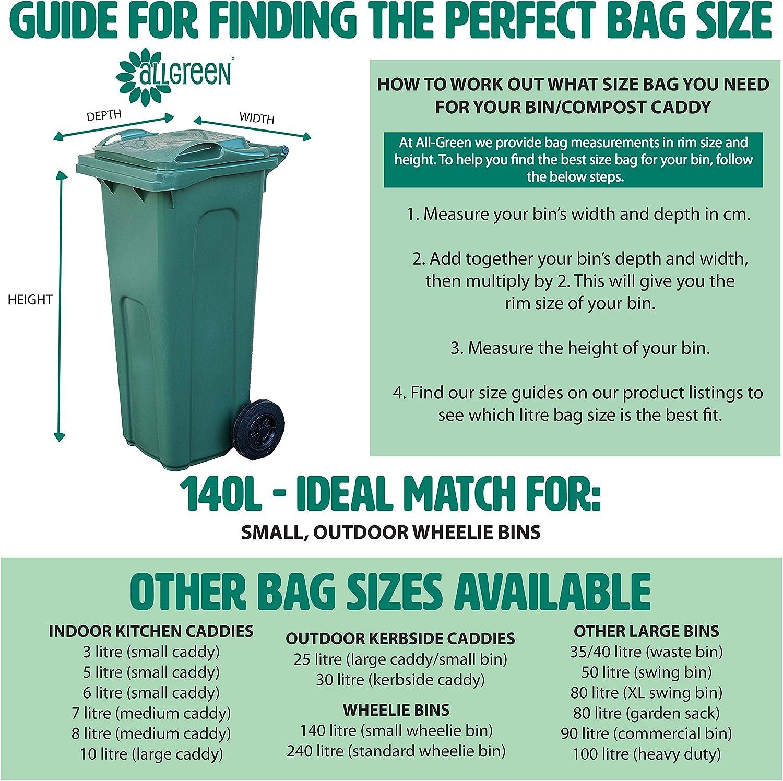 120 x 6 L Biobag compostable Sacs pour cuisine déchets alimentaires Caddies 4 rouleaux