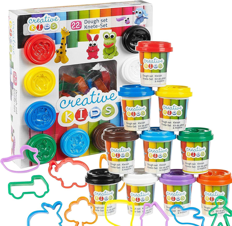 The Magic Toy Shop 22 Piece Kids Craft Play Dough Set & Accessories Dough Moulding Modelling Play Set £6.99 @ Amazon