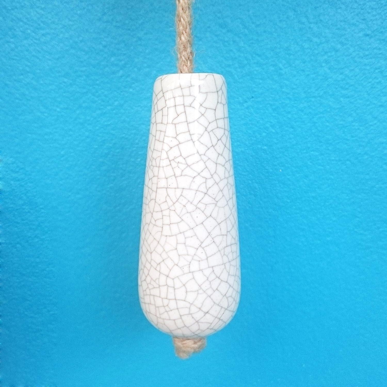 Pushka Home Porcelain White Crackled Bathroom Light Pull. Shabby ...