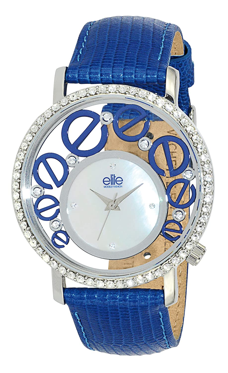 Elite Models' Fashion Damen-Armbanduhr Analog Quarz Blau E53952-208