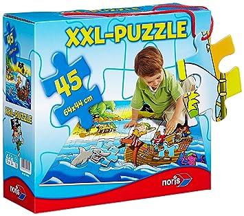 Noris 606034960 - Puzzle de 45 piezas (tamaño gigante), diseño de piratas [