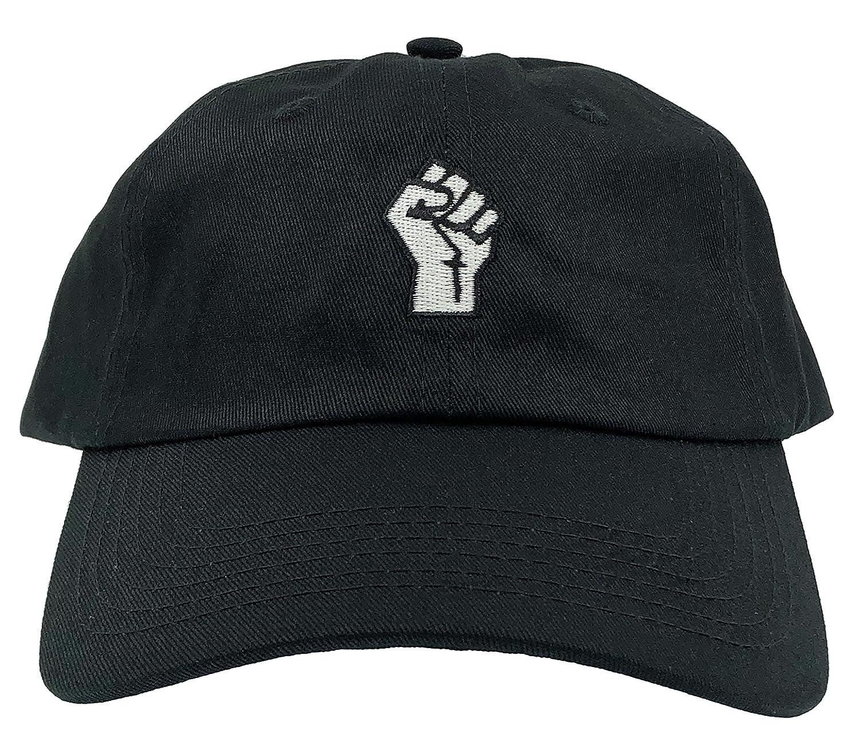 9976b91507c Amazon.com  Molosof Fist Hat Black Lives Matter Dad Hat Baseball Cap  Embroidered Adjustable (Black)  Clothing