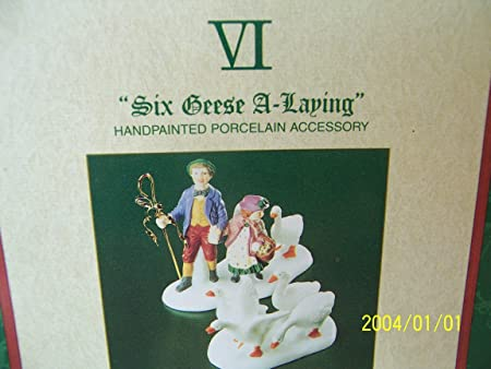 Dept.56-12 Days of Dickens-Six Geese A-Laying set of 2