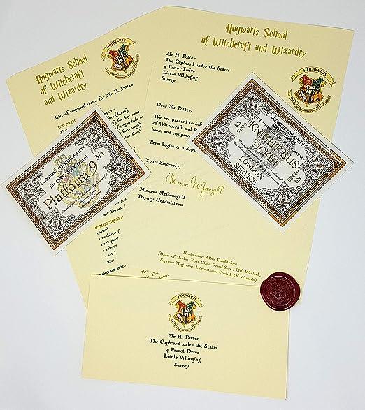 Regalo caliente HARRY POTTER HOGWARTS carta de aceptación con ...