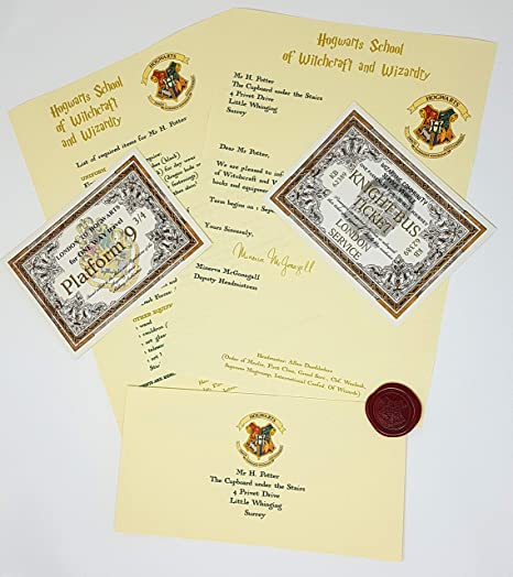 Hogwarts Acceptance Letter   Harry Potter School Acceptance Letter Gift Pack Personalized With
