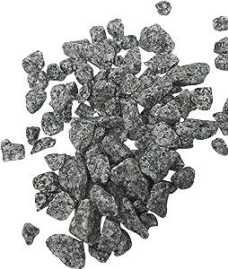 2 Pounds of Grey Granite Rocks, 32 oz bag, Gray Outdoor Decorative Stones for Craft Projects, Vase Filler, Succulents, Cactus Pots, Terrarium Plants