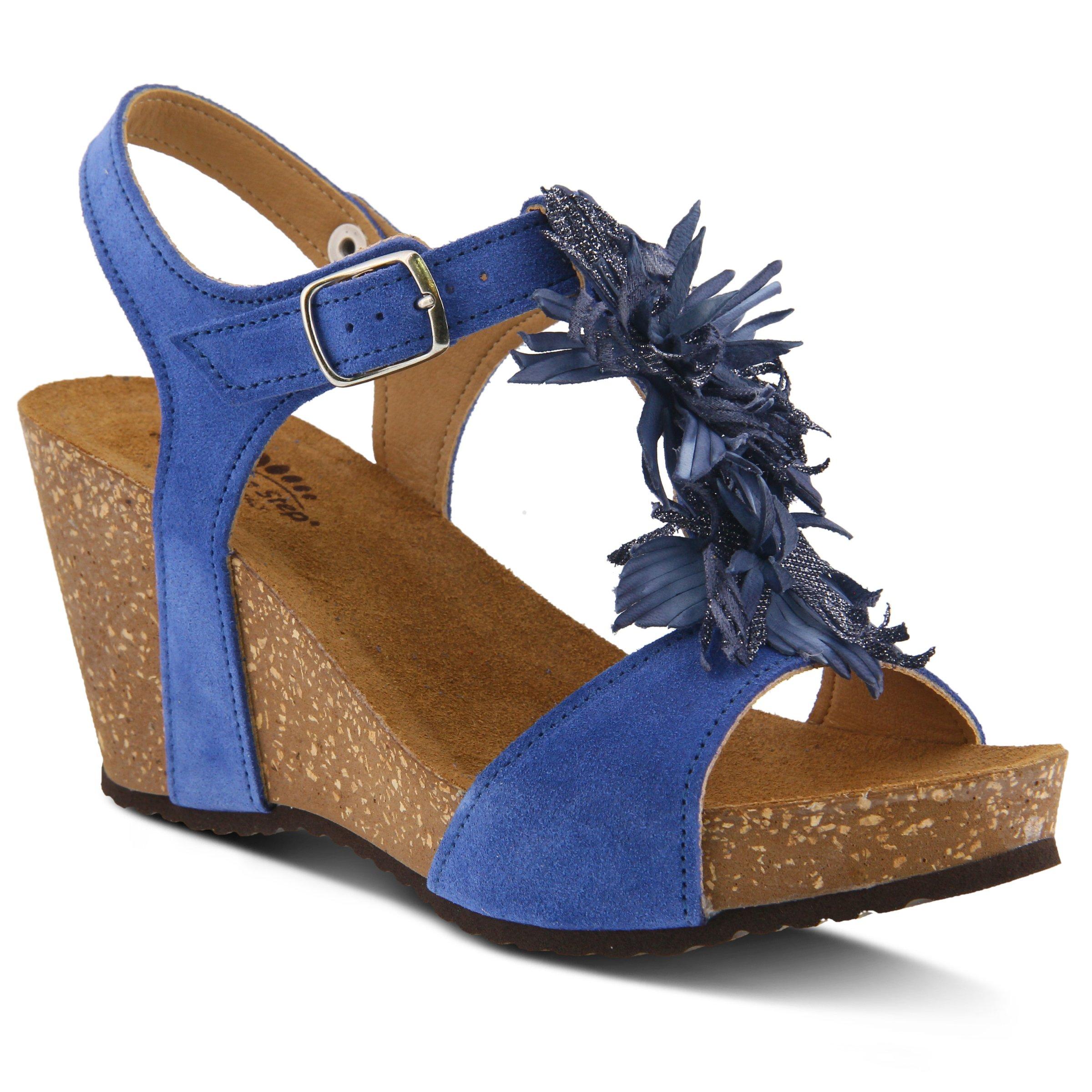 Spring Step Women's Style Izetta Blue EURO Size 41 Leather Sandal