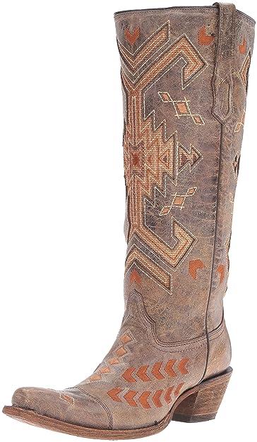 9e1a9898388 Amazon.com | CORRAL Women's Multicolored Jute Inlay Cowgirl Boot ...