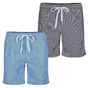 Soul Star Mens Stripe Swimming Shorts